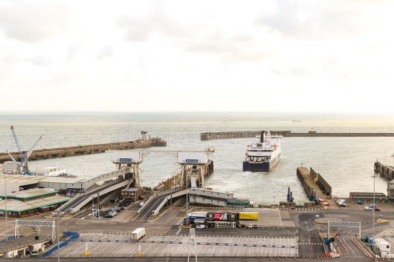 De Haven van Dover in Kent United Kingdom stock afbeelding