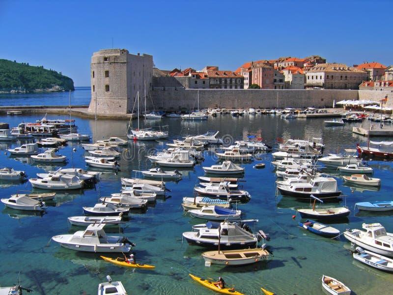 De haven van Dubrovnik stock foto's