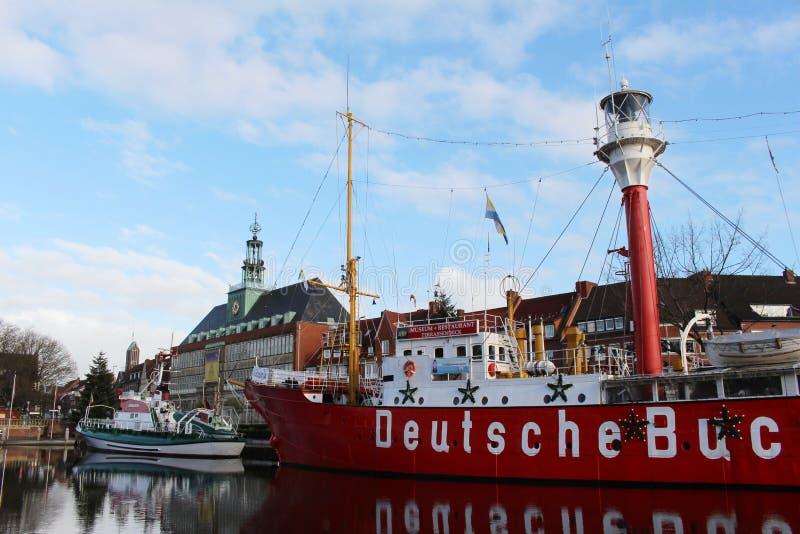 De haven van Emden stock afbeelding