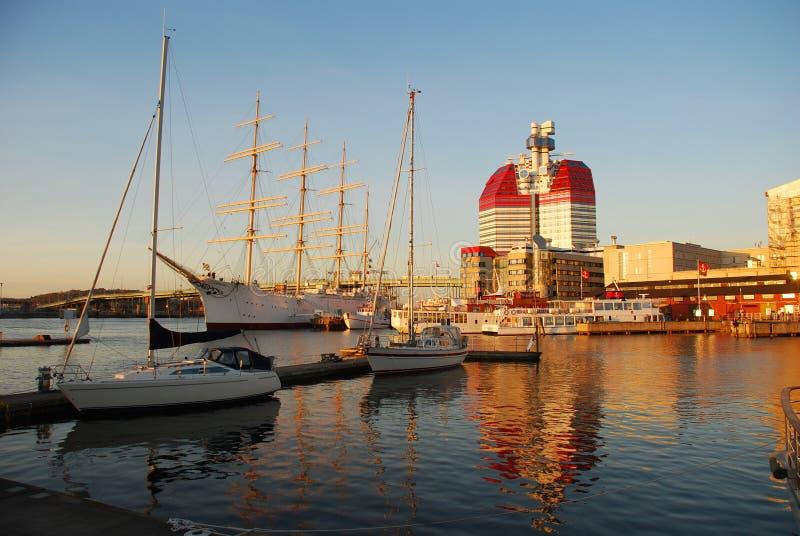 De haven van Gothenburg, Zweden royalty-vrije stock foto