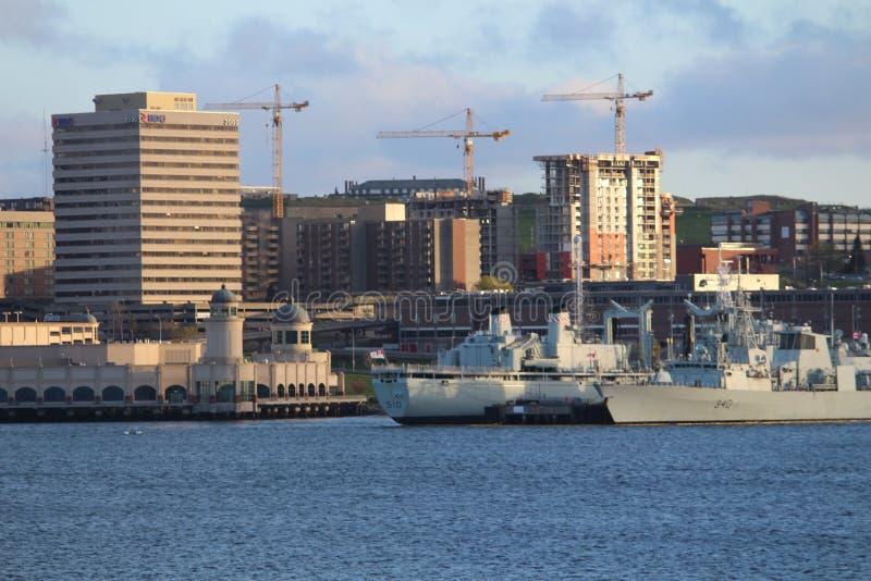 De Haven van Halifax, NS - Mening van de Havenvoorzijde royalty-vrije stock foto's