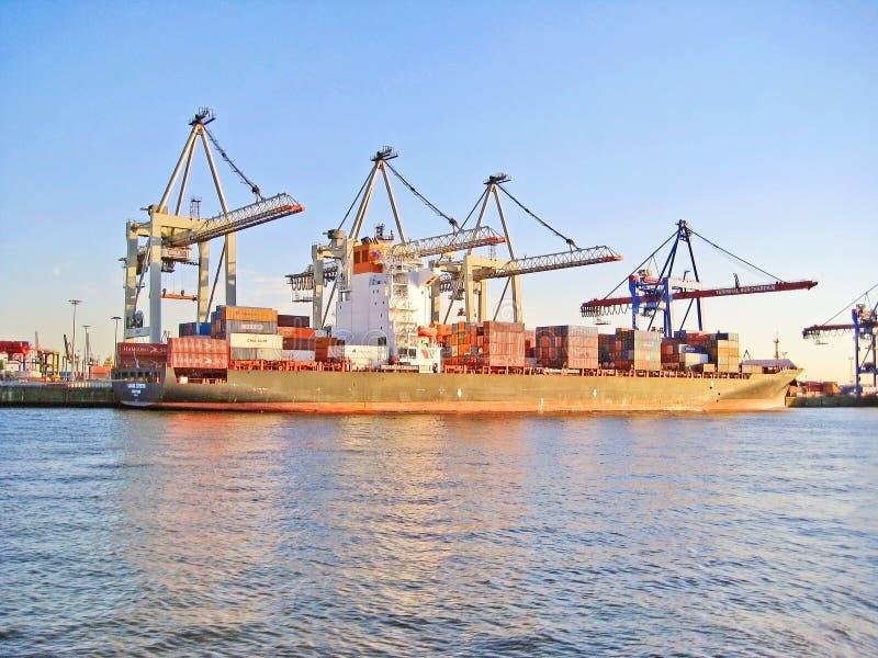 De haven van Hamburg/haven, Duitsland royalty-vrije stock fotografie