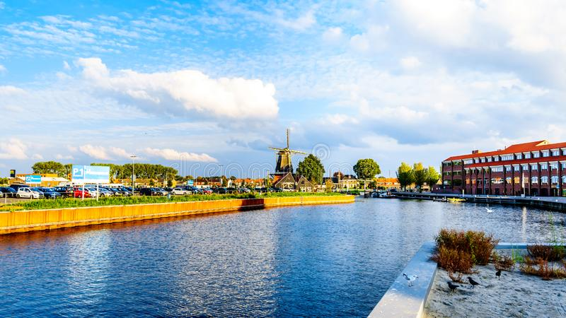De haven van Harderwijk in Nederland stock fotografie