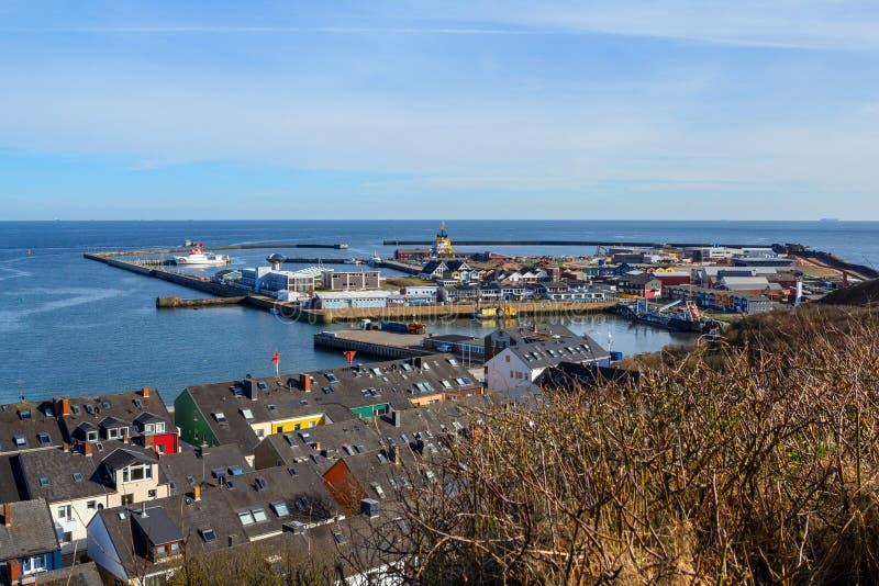 De haven van de Helgolandstad, Duitsland royalty-vrije stock afbeelding