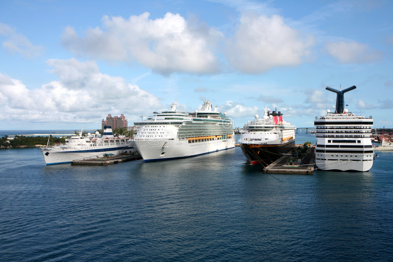 De Haven van het Schip van de cruise royalty-vrije stock foto