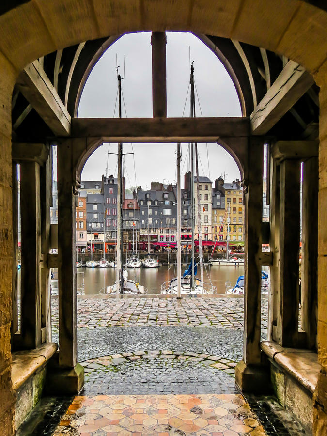 De haven van Honfleur stock fotografie