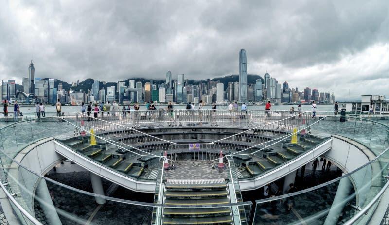 De haven van Hongkong Victoria royalty-vrije stock foto's