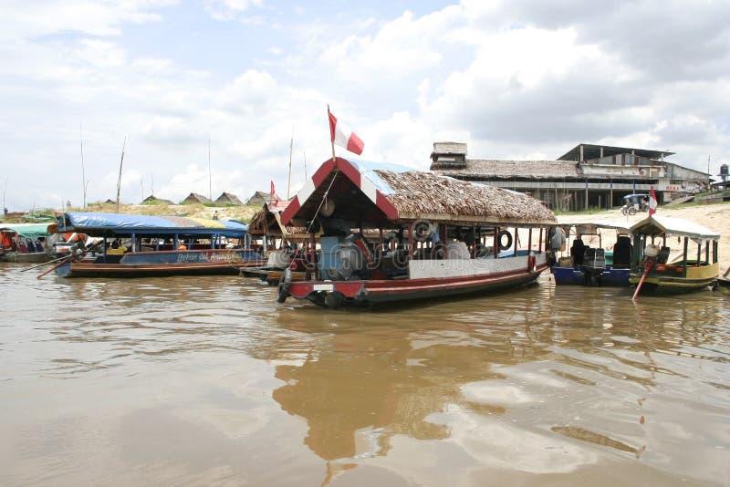 De Haven van Iquitos, Peru, Zuid-Amerika stock fotografie