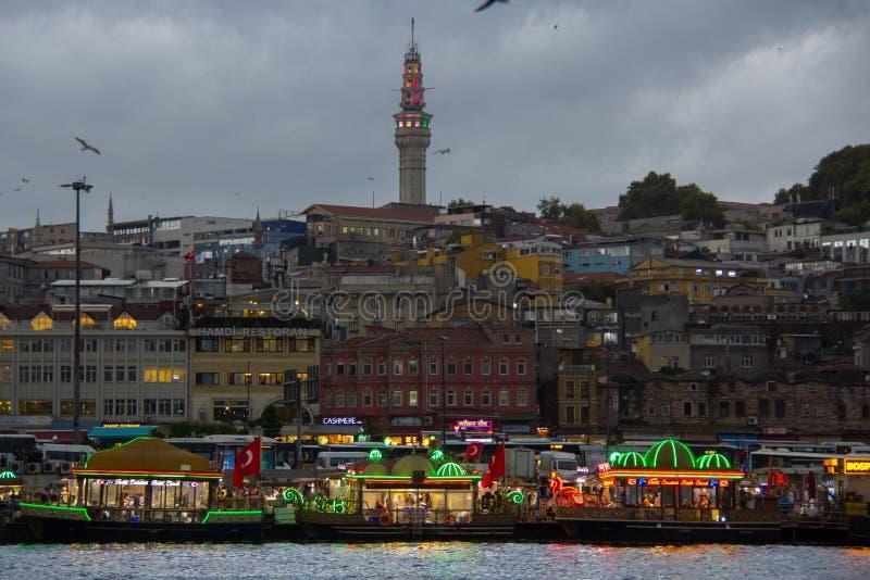 De haven van Istanboel Fatih royalty-vrije stock afbeeldingen