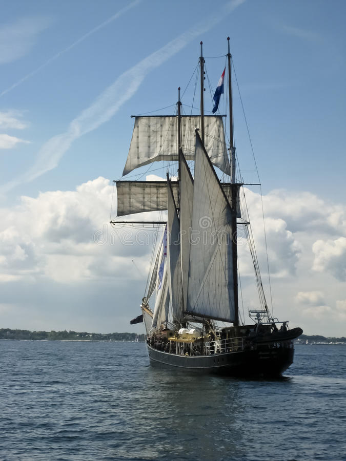 In de haven van Kiel royalty-vrije stock foto
