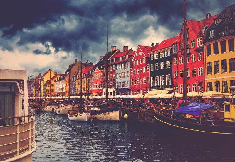 De Haven van Kopenhagen Nyhavn royalty-vrije stock afbeeldingen