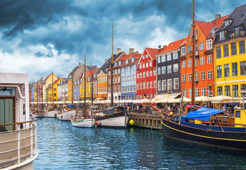 De Haven van Kopenhagen Nyhavn royalty-vrije stock foto's
