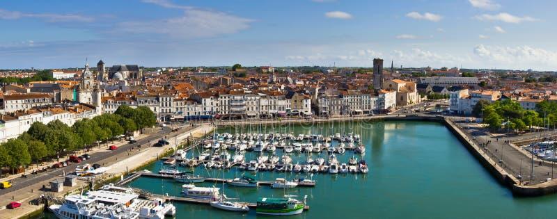 De haven van La Rochelle - Panorama stock afbeeldingen