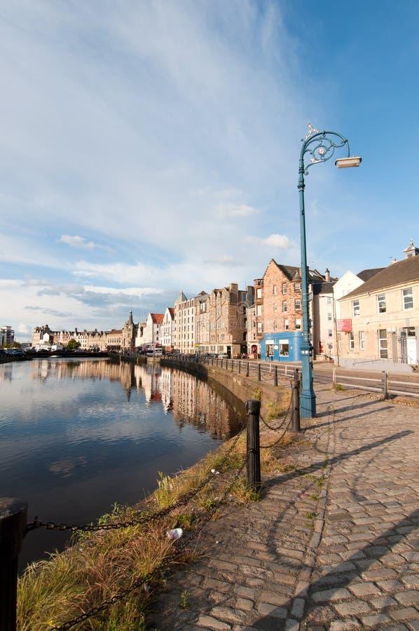 De haven van Leith - Edinburgh, Schotland royalty-vrije stock foto