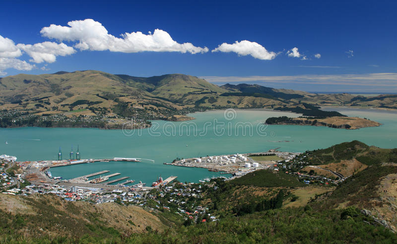 De Haven van Lyttelton van Christchurch royalty-vrije stock foto's