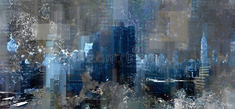De haven van Manhattan stock illustratie
