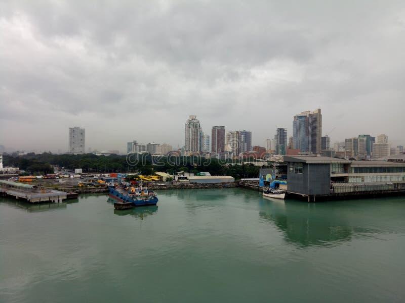 De Haven van Manilla stock afbeeldingen
