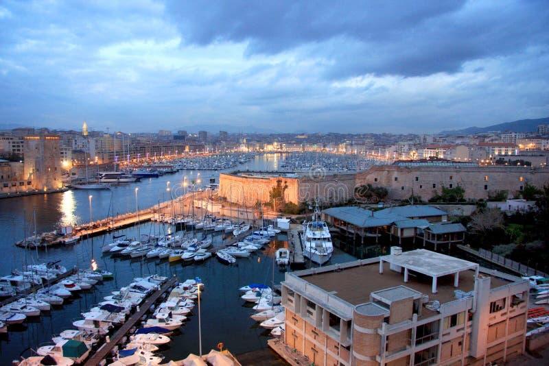 De Haven van Marseille stock foto's