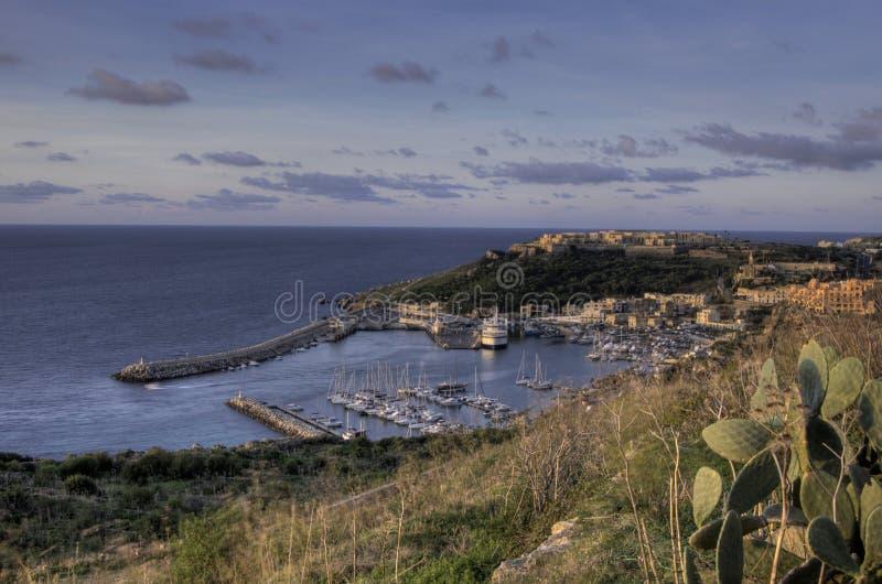 De Haven van Mgarr, Gozo stock foto
