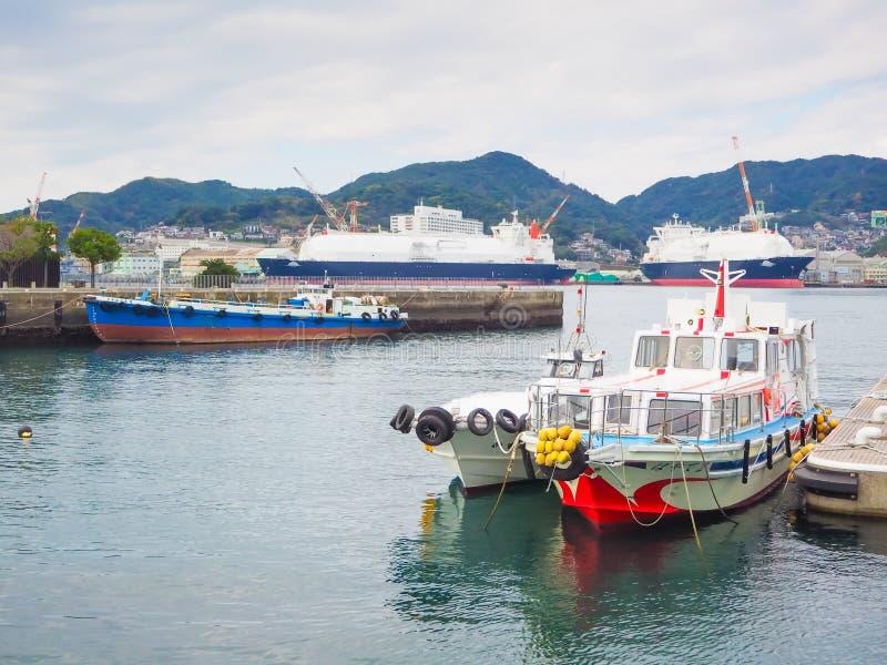De haven van Nagasaki stock fotografie