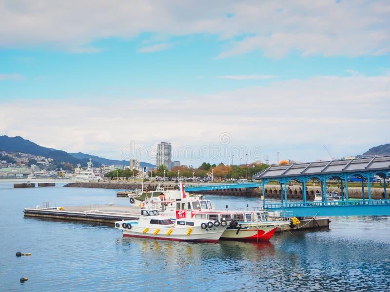De haven van Nagasaki stock foto