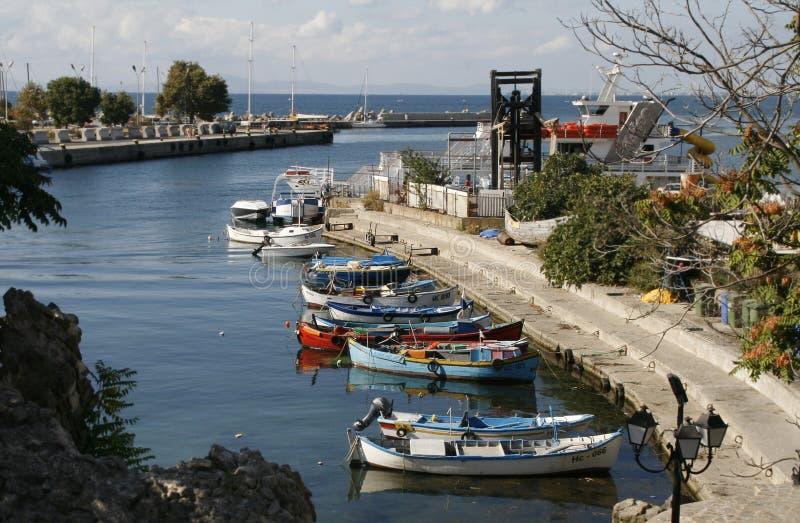 De haven van Nessebar, Bulgarije stock foto