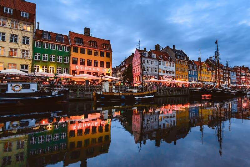 De Haven van Nyhavn in Kopenhagen royalty-vrije stock afbeeldingen