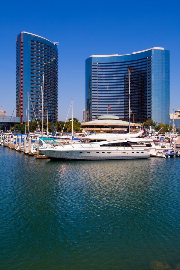 De Haven van San Diego en de stad in royalty-vrije stock foto