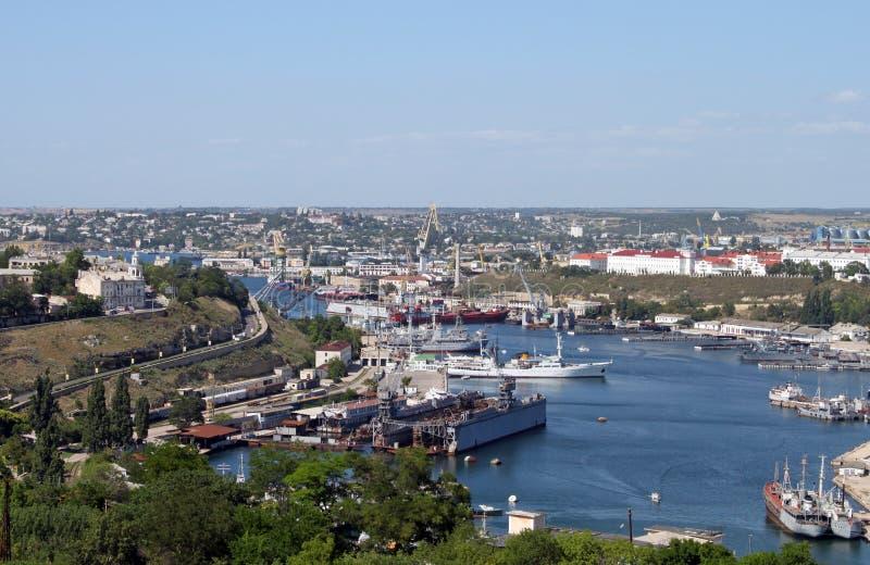 In de haven van Sebastopol royalty-vrije stock afbeeldingen