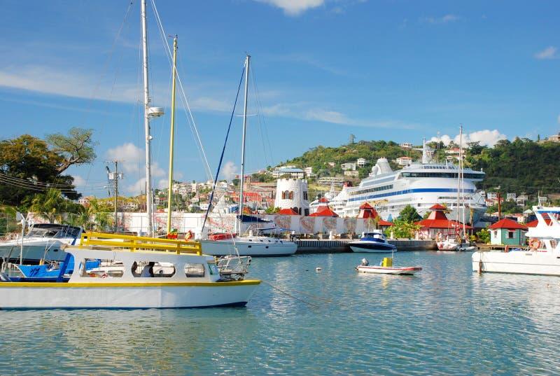 De haven van St. George, Grenada royalty-vrije stock afbeelding