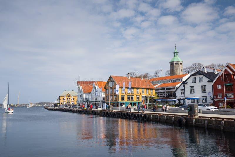 De haven van Stavanger royalty-vrije stock afbeeldingen