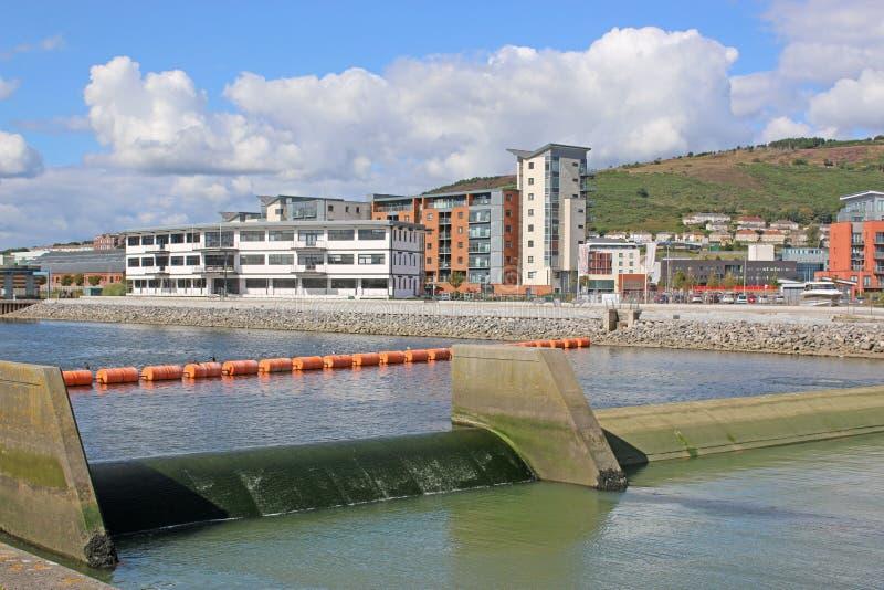 De Haven van Swansea, Wales stock foto's
