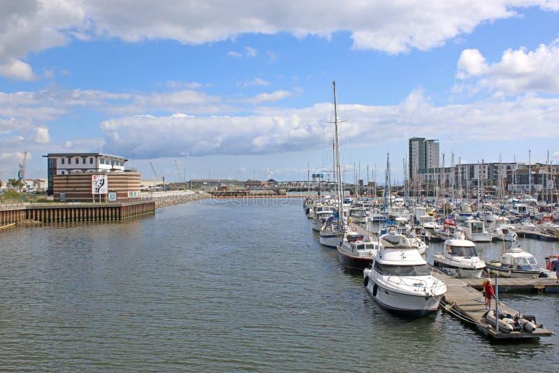 De Haven van Swansea, Wales royalty-vrije stock afbeeldingen