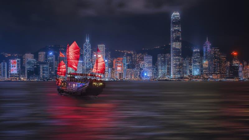 De Haven van Victoria in Hongkong stock fotografie