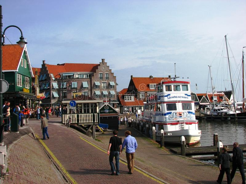 De Haven van Volendam, Holland stock afbeeldingen