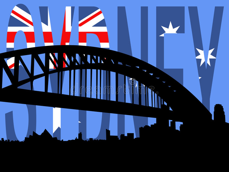 De havenbrug van Sydney stock illustratie