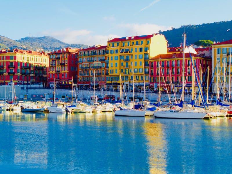 De havengebied van Nice, Frankrijk stock foto's