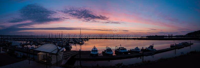 De Havenlichten bij de Jachthaven van Portland royalty-vrije stock foto's