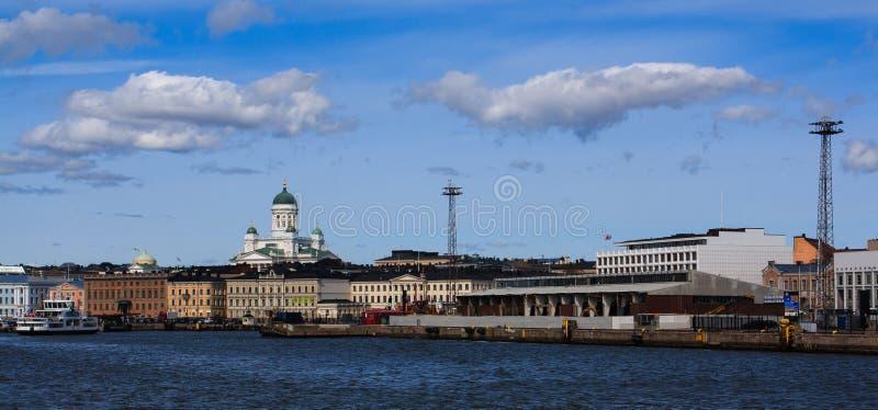 De havenpanorama van Helsinki stock afbeelding