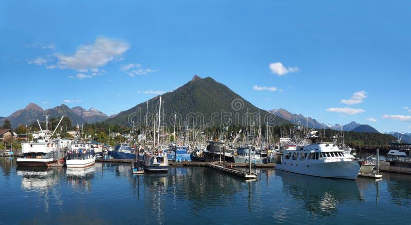 De Havenpanorama van Sitkaalaska royalty-vrije stock fotografie