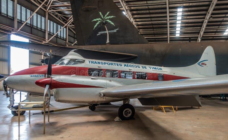 De Haviland DH 104 περιστέρι στο αυστραλιανό κέντρο κληρονομιάς αεροπορίας, Δαρβίνος στοκ φωτογραφίες