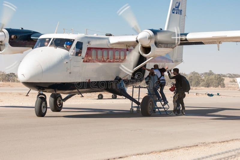De Havilland加拿大DHC-6-100孪生水獭aiplane 库存照片
