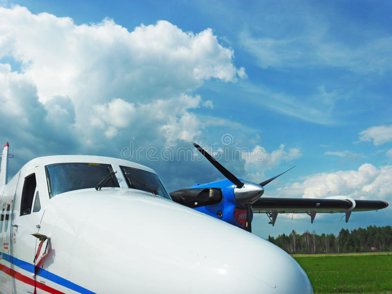 De Havilland Canada DHC-6 Twin Otter aircraft royalty free stock photography