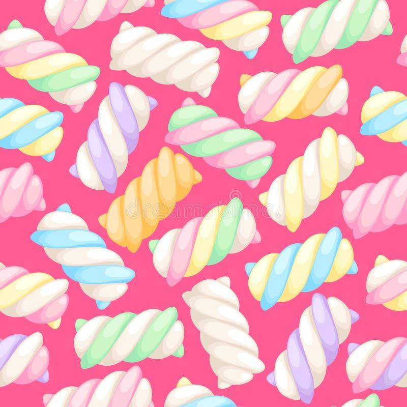 De heemst verdraait naadloze patroon vectorillustratie vector illustratie