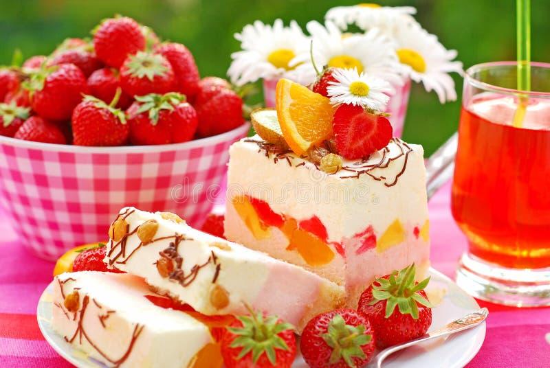 De heemstcake van het fruit royalty-vrije stock foto