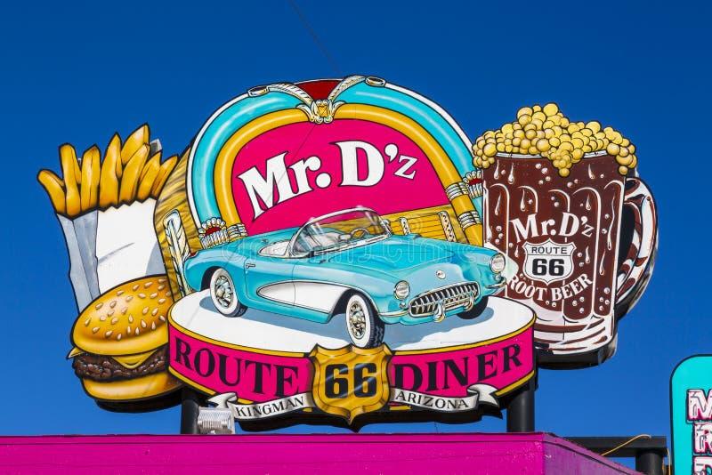 De heer D 'z Diner, Route 66, Kingman, Arizona, de V.S., Amerika, Verenigde Staten, Noord-Amerika stock fotografie