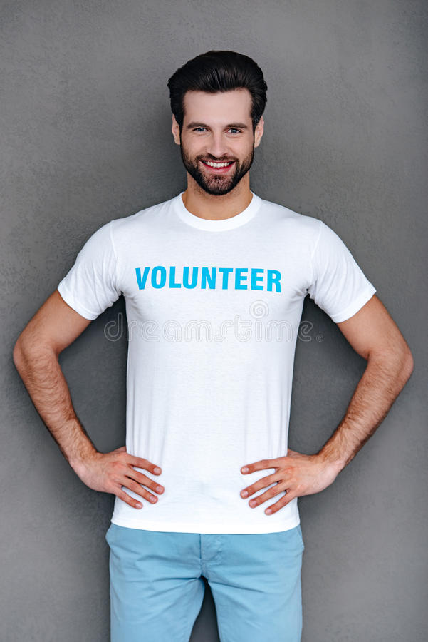 De heer vrijwilliger royalty-vrije stock fotografie