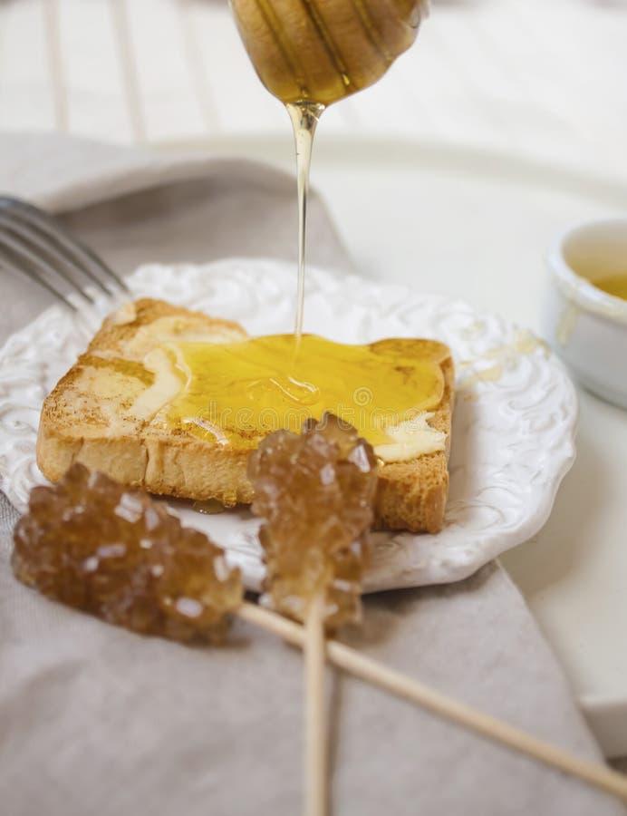 De heerlijke mening van honing verglaasde toost royalty-vrije stock afbeeldingen