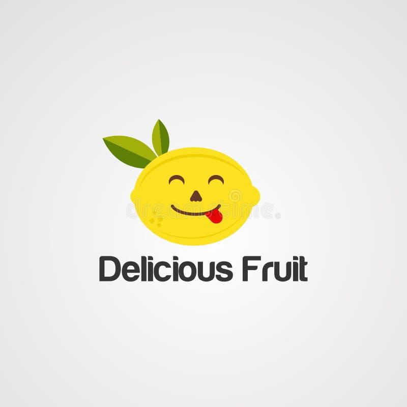 De heerlijke vector, het pictogram, het element, en het malplaatje van het fruitembleem vector illustratie
