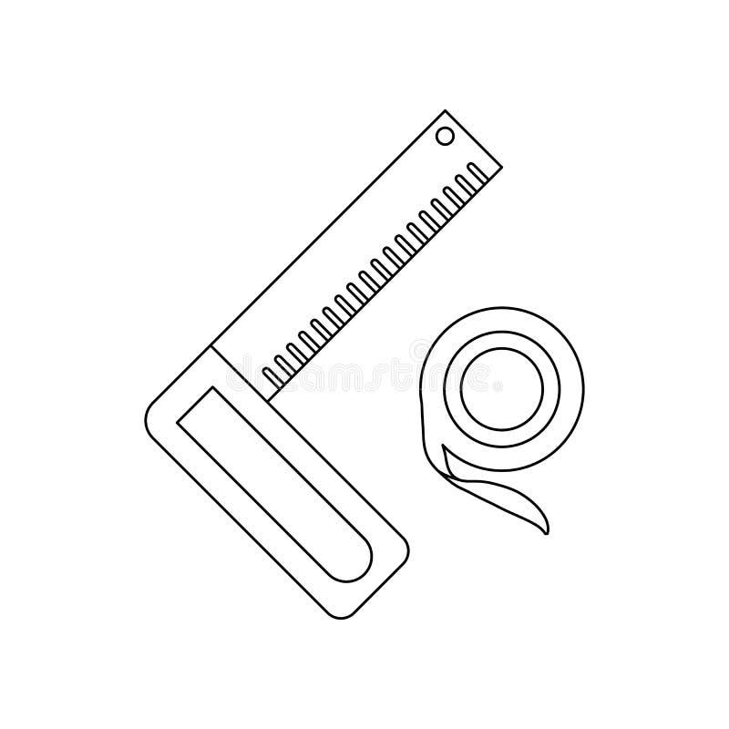 de heerserspictogram van de kleurenhoek Element van bouwhulpmiddelen voor mobiel concept en webtoepassingenpictogram Overzicht, d vector illustratie